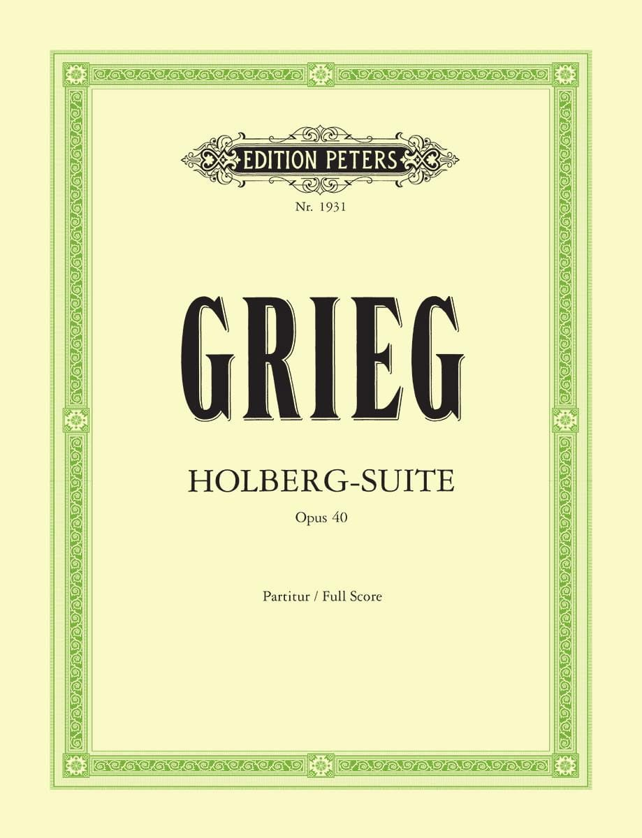 Edvard Grieg - Holberg-Suite op. 40 - Partitur - Partition - di-arezzo.co.uk