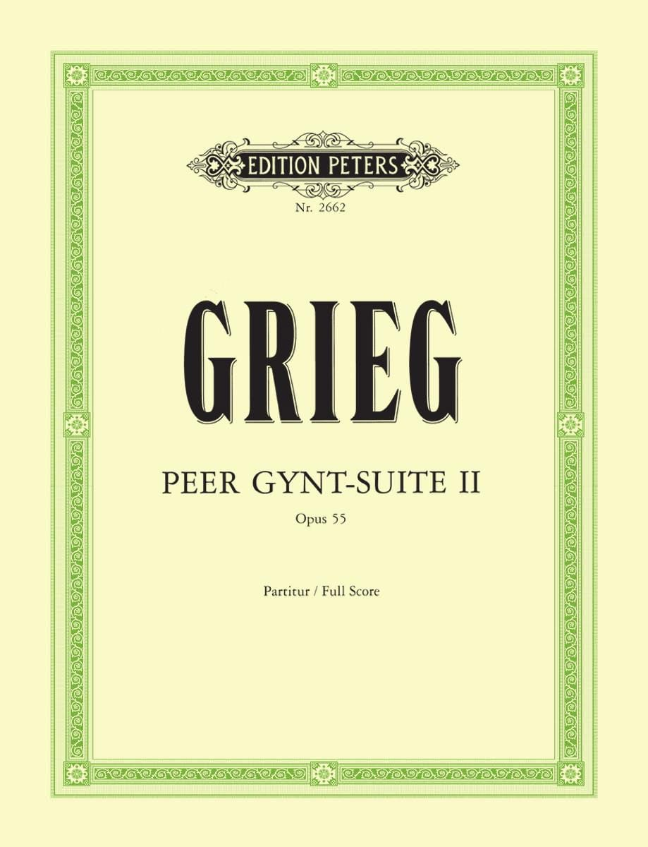 Edvard Grieg - Peer Gynt-Suite No. 2 op. 55 - Partitur - Partition - di-arezzo.co.uk