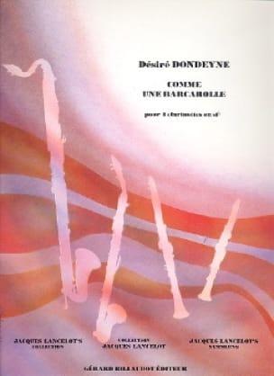 Comme une barcarolle - Désiré Dondeyne - Partition - laflutedepan.com