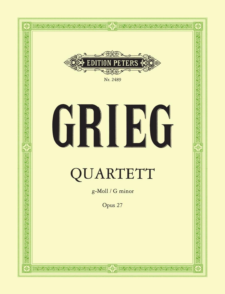 Streichquartett g-moll op. 27 -Stimmen - GRIEG - laflutedepan.com