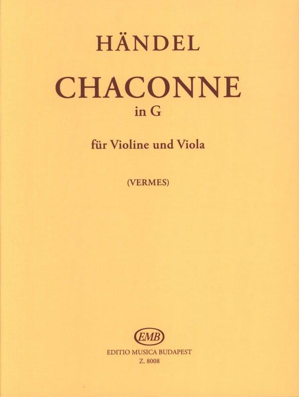HAENDEL - Chaconne in G - Violin Viola - Partition - di-arezzo.co.uk