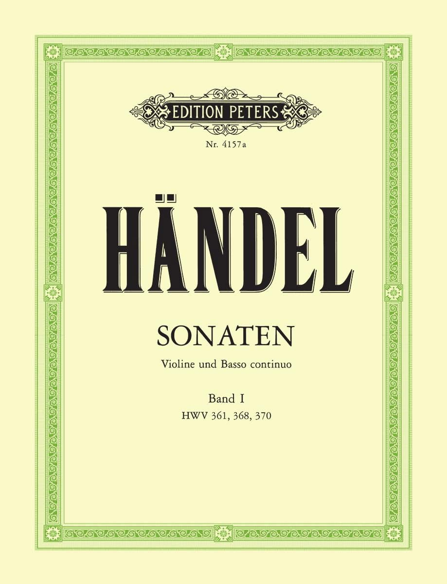 HAENDEL - Sonaten Band 1 - Partition - di-arezzo.co.uk