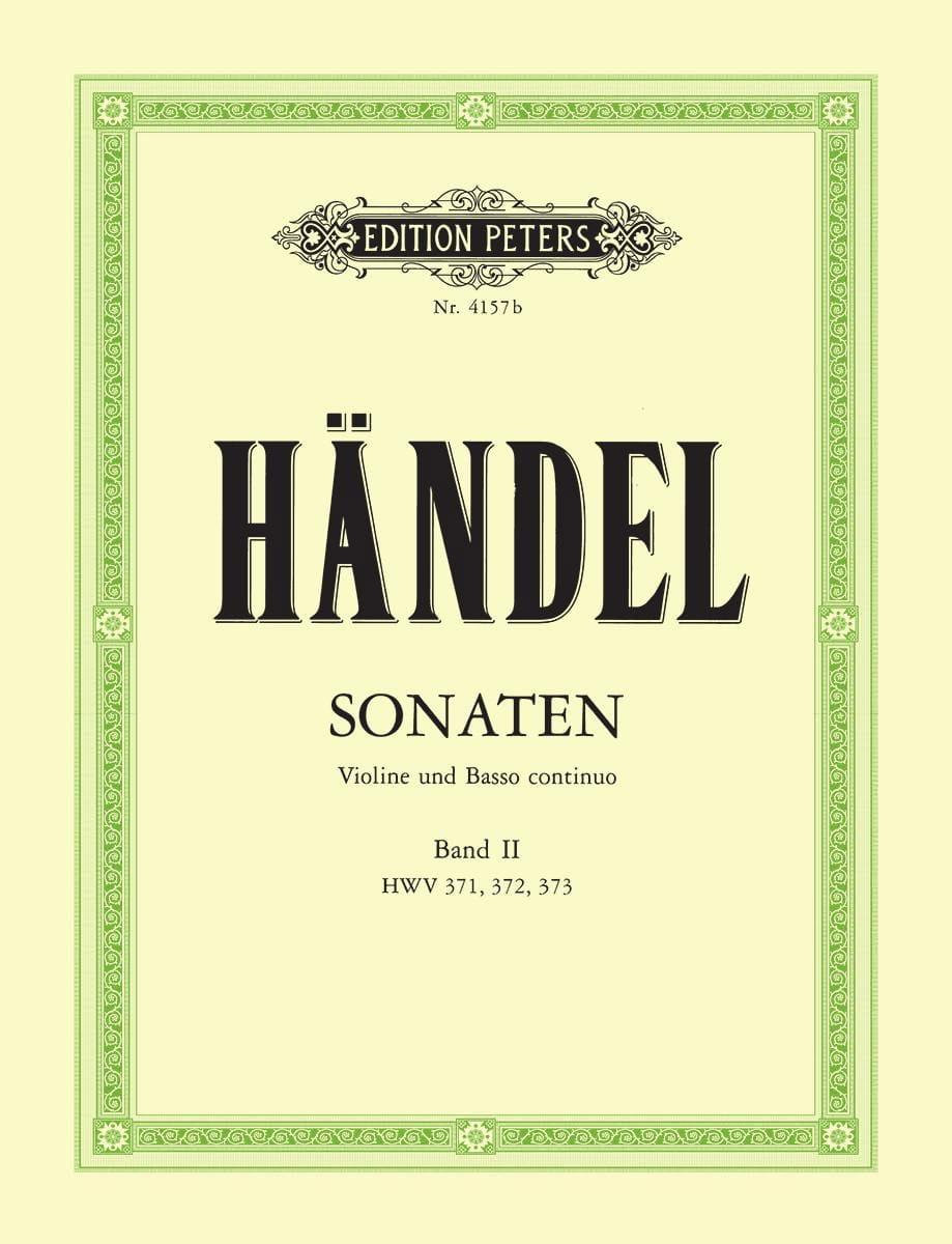 HAENDEL - Sonaten Band 2 - Partition - di-arezzo.co.uk