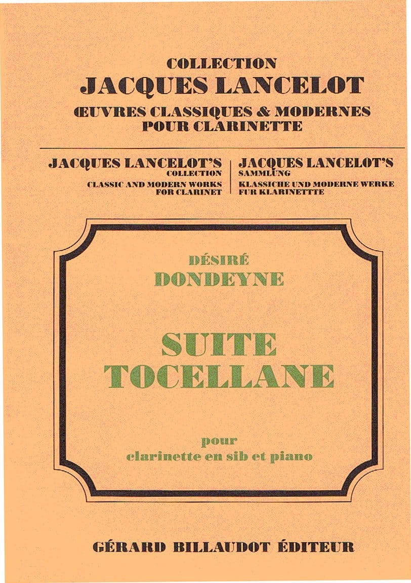 Suite Tocellane - Désiré Dondeyne - Partition - laflutedepan.com