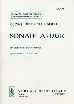 HAENDEL - Sonata A-Dur - Partition - di-arezzo.com