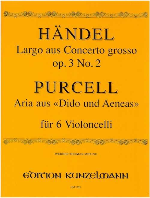HAENDEL - Largo / Aria - 6 cellos - Partition - di-arezzo.com