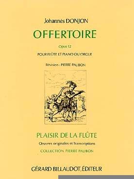Offertoire Opus 12 - Johannes Donjon - Partition - laflutedepan.com