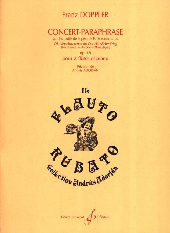 Franz Doppler - Concierto-Paráfrasis en Motivos de Die Verschworenen, Op. 18 - 2 Flautas-Piano - Partition - di-arezzo.es
