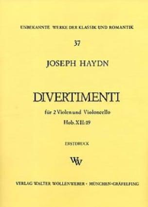 Divertimenti Hob. 12 : 19 -2 Violen Cello - Stimmen - laflutedepan.com