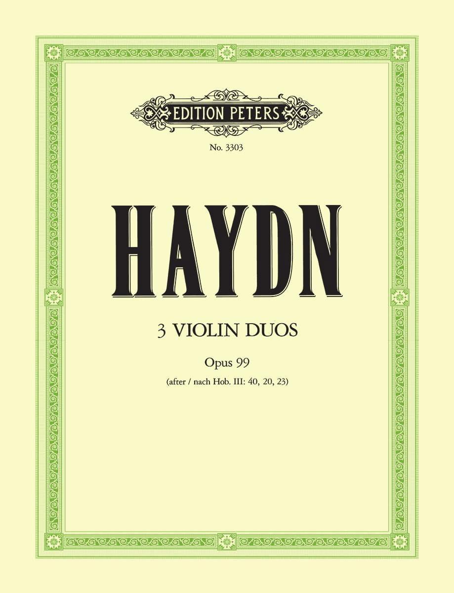 3 Duos op. 99 - HAYDN - Partition - Violon - laflutedepan.com