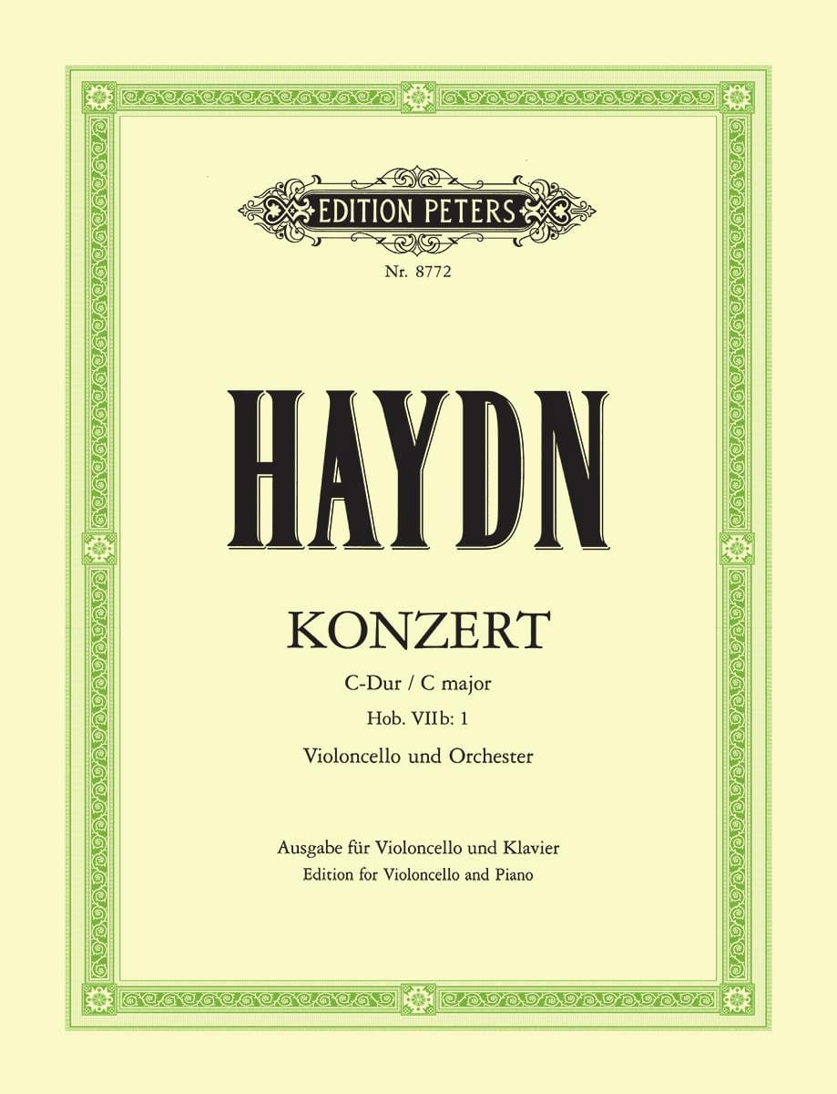 HAYDN - Concerto in C Major for cello Hob. 7b: 1 - Partition - di-arezzo.co.uk