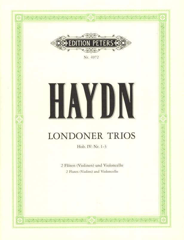 HAYDN - 3 London Trios - 2 Flöten Violoncello Partitur + Stimmmen - Partition - di-arezzo.fr