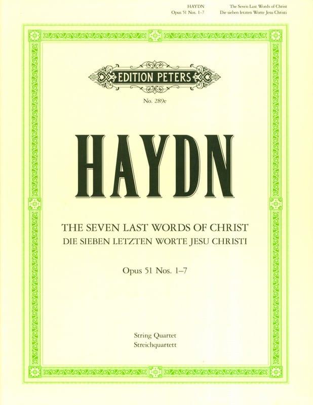 HAYDN - Streichquartette op. 51: Die 7 Letzten Worte Jesus Christi - Parts - Partition - di-arezzo.co.uk