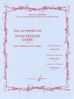 Willy van Dorsselaer - Invocation and Dance op. 59 - Partition - di-arezzo.co.uk
