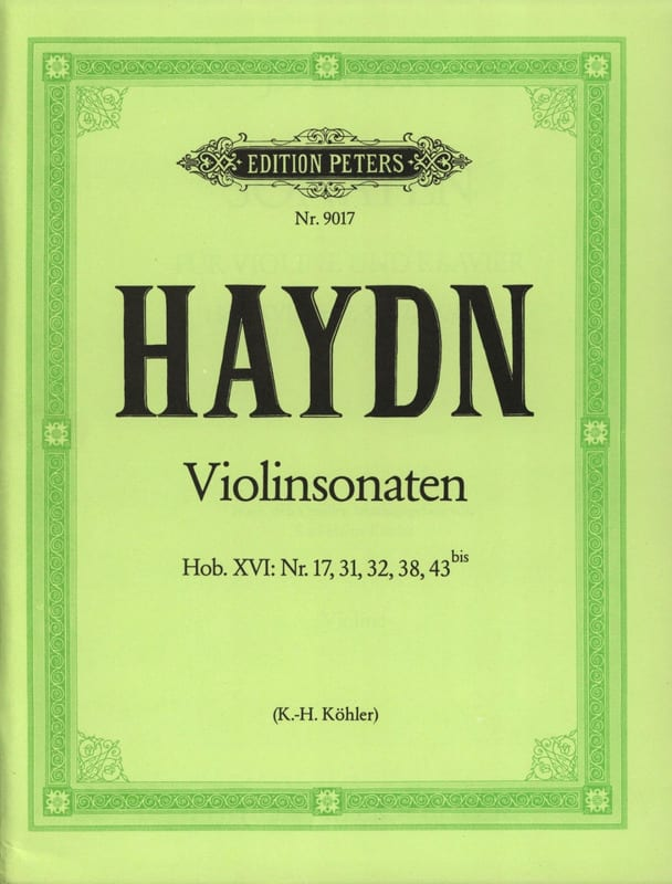 HAYDN - Hob sonatas. 15: No. 17, 31, 32 and 38 - Hob. 16: No. 43 bis - Partition - di-arezzo.co.uk
