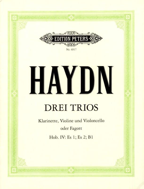 HAYDN - 3 Trios Hob. 4: Es 1, Es 2, B 1 - Violin violet Cello o. Fagott - Partition - di-arezzo.com