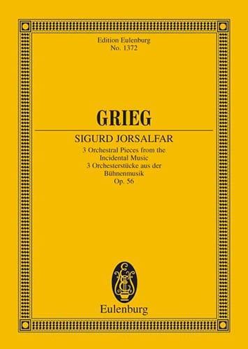 Edvard Grieg - 3 Orchesterstücke, op. 56 - Partition - di-arezzo.it