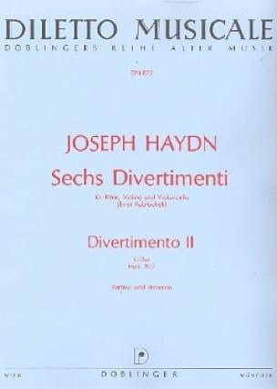 HAYDN - 6 Divertimenti, Divertimento Nr. 2 G-Dur - Partitur Stimmen - Partition - di-arezzo.com