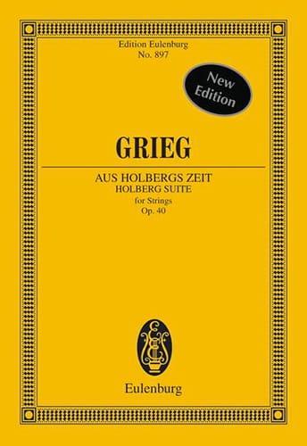Edvard Grieg - Aus Holbergs Zeit, op. 40 - Partitur - Partition - di-arezzo.it