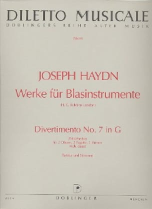 HAYDN - Divertimento Nr. 7 G-Dur - 2 Oben 2 Bundle 2 Hörner - Partitur Stimmen - Partition - di-arezzo.co.uk