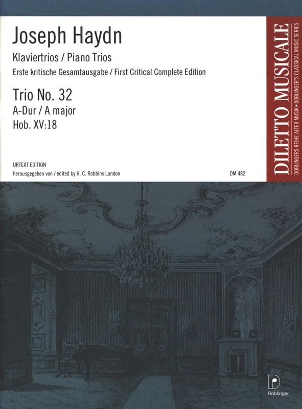 HAYDN - Klaviertrio Nr. 32 A-Dur Hob. 15: 18 - Stimmen - Partition - di-arezzo.co.uk