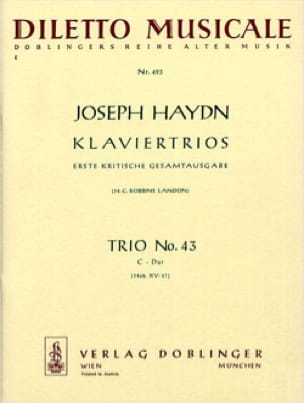 HAYDN - Klaviertrio Nr. 43 C-Dur Hob. 15: 27 - Stimmen - Partition - di-arezzo.co.uk