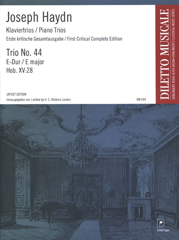 HAYDN - Klaviertrio Nr. 44 E-Dur Hob. 15: 28 - Stimmen - Partition - di-arezzo.co.uk