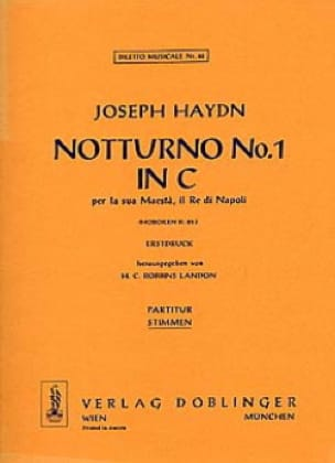 HAYDN - Notturno Nr. 1 C-Dur Hob. 2 : 25 - 2 Altblockflöten Klavier - Partition - di-arezzo.fr
