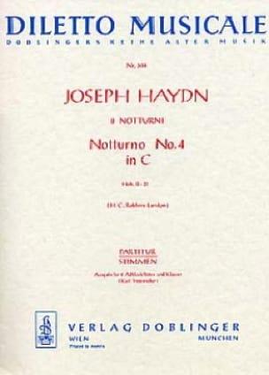 HAYDN - Notturno Nr. 4 C-Dur Hob. 2 : 31 - 2 Altblockflöten Klavier - Partition - di-arezzo.fr