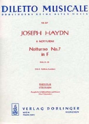 Notturno Nr. 7 F-Dur Hob. 2 : 28 - 2 Altblockflöten Klavier - laflutedepan.com