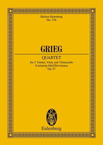 Streich-Quartett G-Moll, Op. 27 - GRIEG - Partition - laflutedepan.com