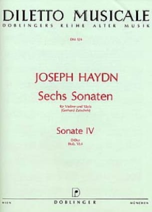 HAYDN - Sonata No. 4 D-Dur Hob. 6 n ° 4 - Partition - di-arezzo.co.uk