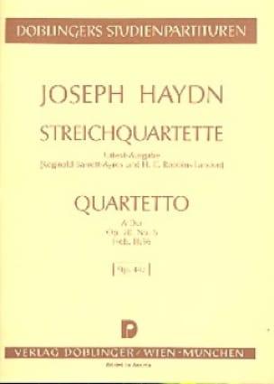Streichquartett A-Dur op. 20 n° 6 Hob. 3 : 36 - Partitur - laflutedepan.com