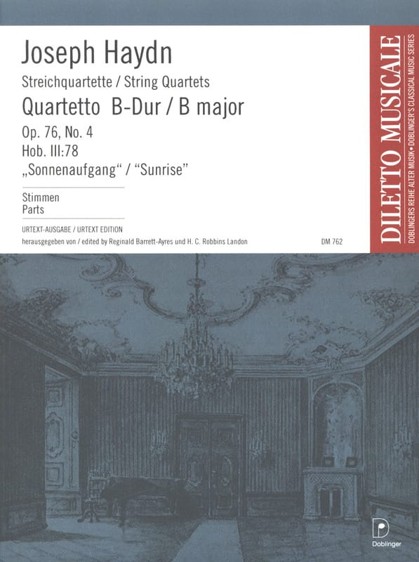 HAYDN - String Quartet op. 76 n ° 4 - Parties - Partition - di-arezzo.co.uk