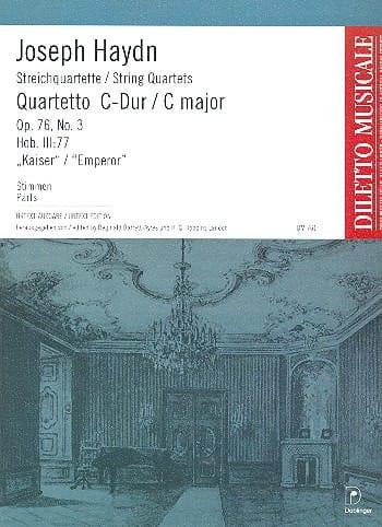 HAYDN - Streichquartett C-Dur op. 76 n ° 3 - Stimmen - Partition - di-arezzo.co.uk