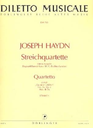 HAYDN - Streichquartett d-moll op. 76 n ° 2 - Stimmen - Partition - di-arezzo.co.uk