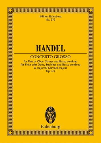 Concerto gross G-Dur - HAENDEL - Partition - laflutedepan.com