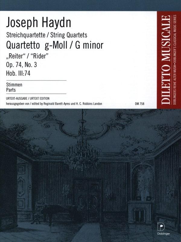 HAYDN - Streichquartett g-moll op. 74 n ° 3 - Stimmen - Partition - di-arezzo.co.uk