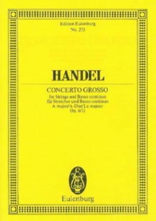 Concerto grosso A-Dur - HAENDEL - Partition - laflutedepan.com