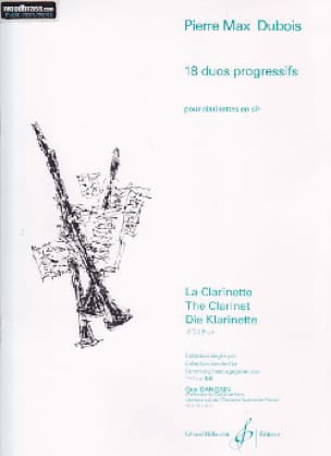 18 Duos progressifs - Pierre-Max Dubois - Partition - laflutedepan.com