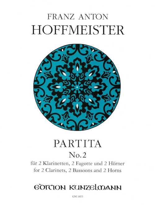 Partita N° 2 - 2 Klarinetten 2 Fagotte 2 Hörner - Stimmen - laflutedepan.com
