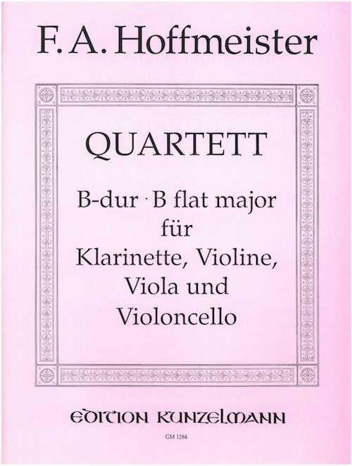 Quartet B-Dur - Klarinette Violine Viola Violoncello - laflutedepan.com