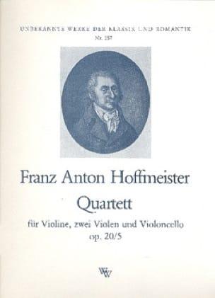 Quartett op. 20 Nr. 5 -Stimmen - HOFFMEISTER - laflutedepan.com