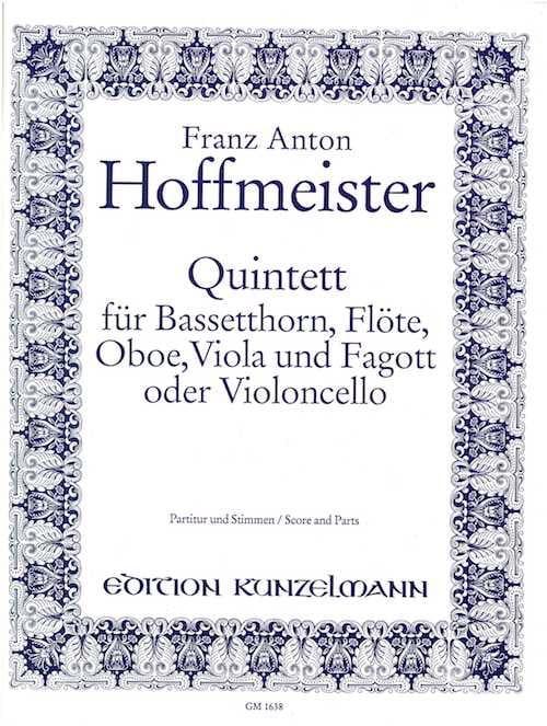 Quintett - Bassetthorn Flöte Oboe Viola Fagott - Partitur + Stimmen - laflutedepan.com