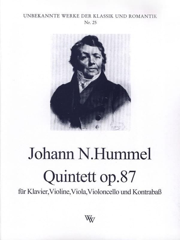 Quintett op. 87 -Partitur + Stimmen - HUMMEL - laflutedepan.com