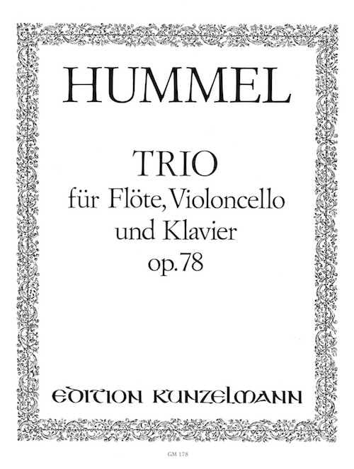 Trio op. 78 -Flöte Cello Klavier - HUMMEL - laflutedepan.com