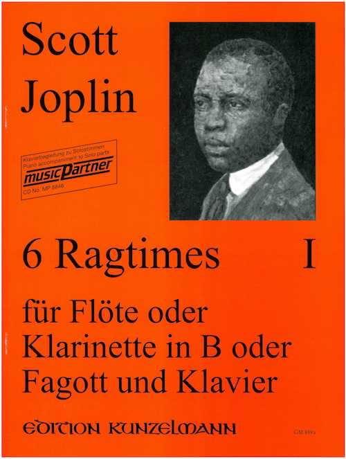 6 Ragtimes Bd. 1 - Flöte o. Klarinette, Fagott Klavier - laflutedepan.com