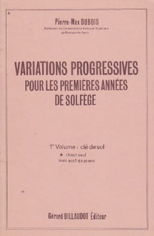 Pierre-Max Dubois - Progressive Variations - Volume 1 without acc. - Partition - di-arezzo.com