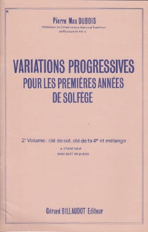 Pierre-Max Dubois - Progressive Variations - Volume 2 without acc. - Partition - di-arezzo.com