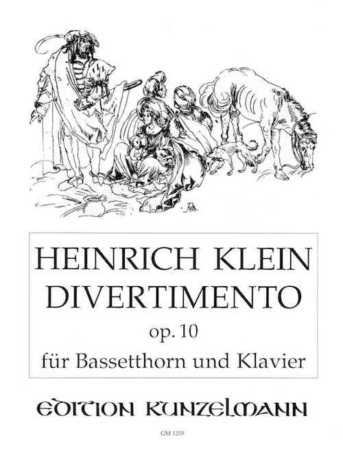 Divertimento op.10 - Bassethorn Klavier - laflutedepan.com